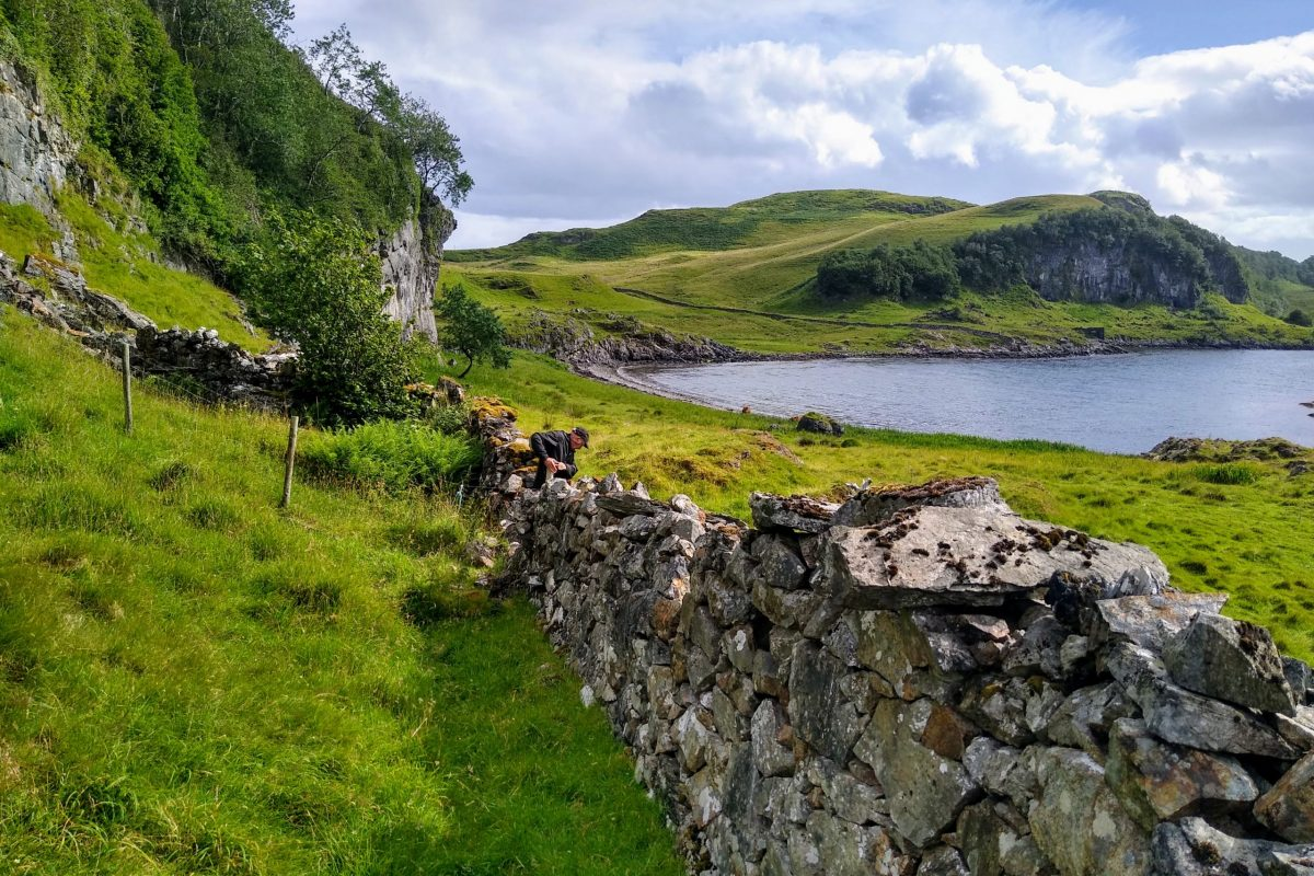 Photo from walk: The last wall leading to Laggan
