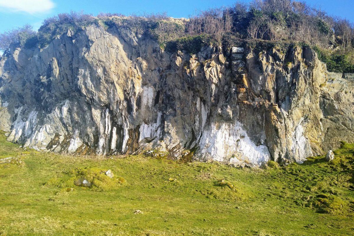 Raised beach cliff