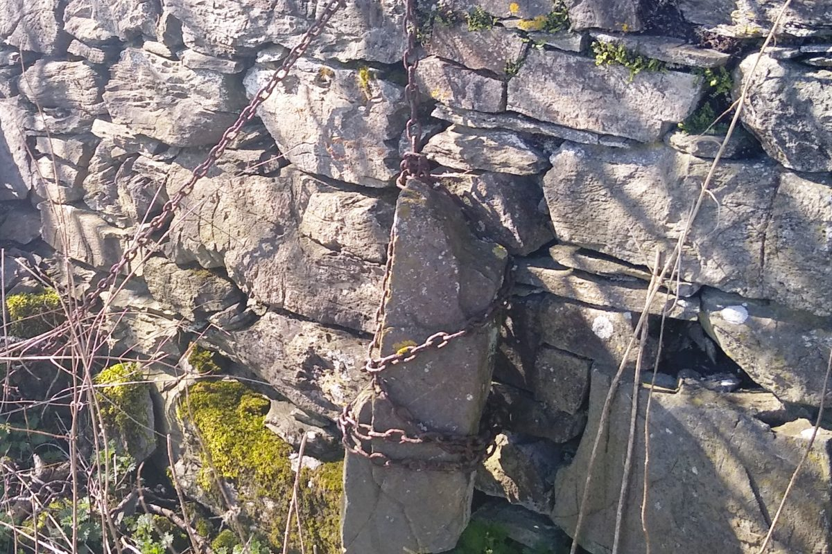 Chained stone
