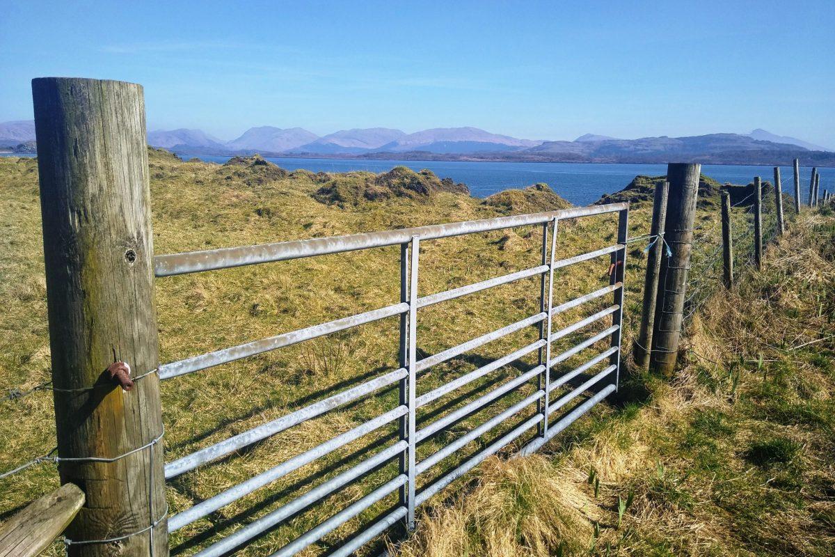 Gate to the raised beach