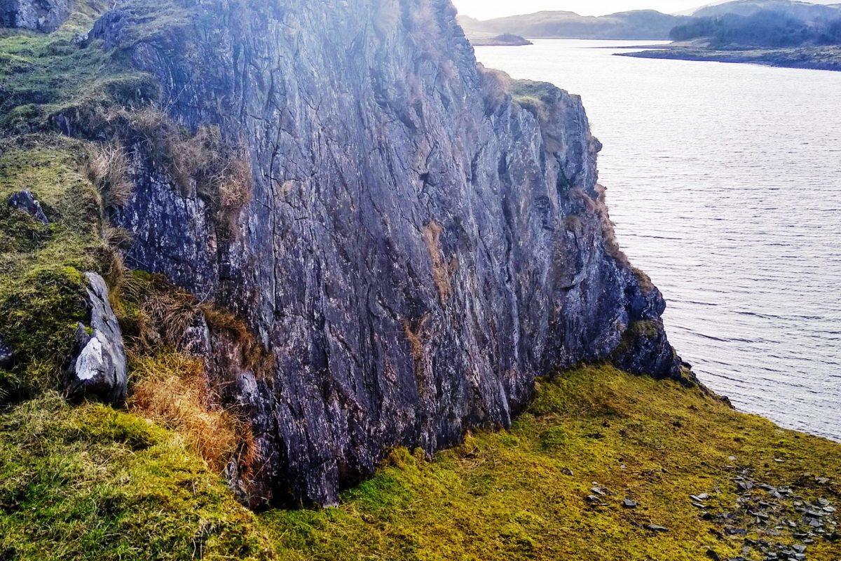 Sculptured cliff